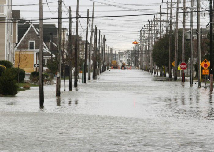 File photo of flooding along Central Avenue in Sea Isle City after Hurricane Sandy