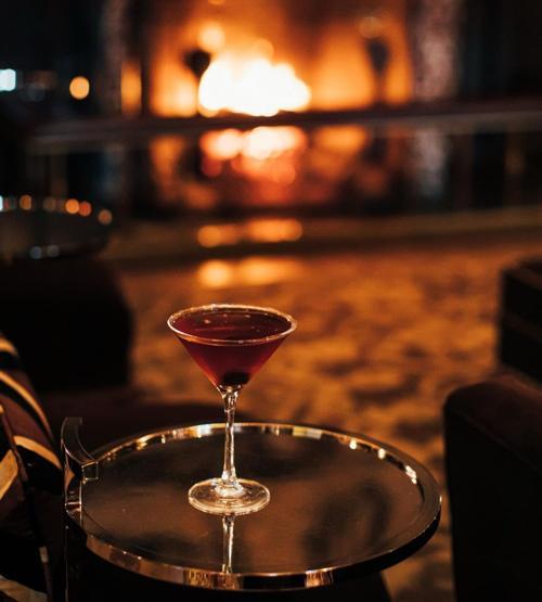 Brown room bourbon cocktail
