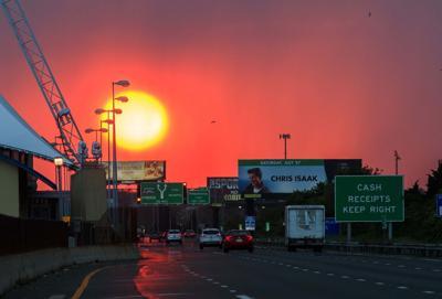 Sun set over the AC Expressway