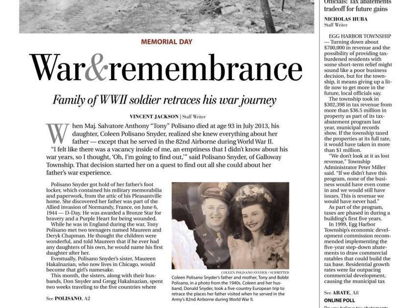 War and Remembrance | History | pressofatlanticcity com