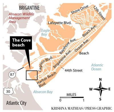 The Cove Brigantine map