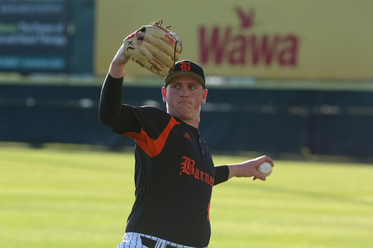 Jason Groome pitching in Camden