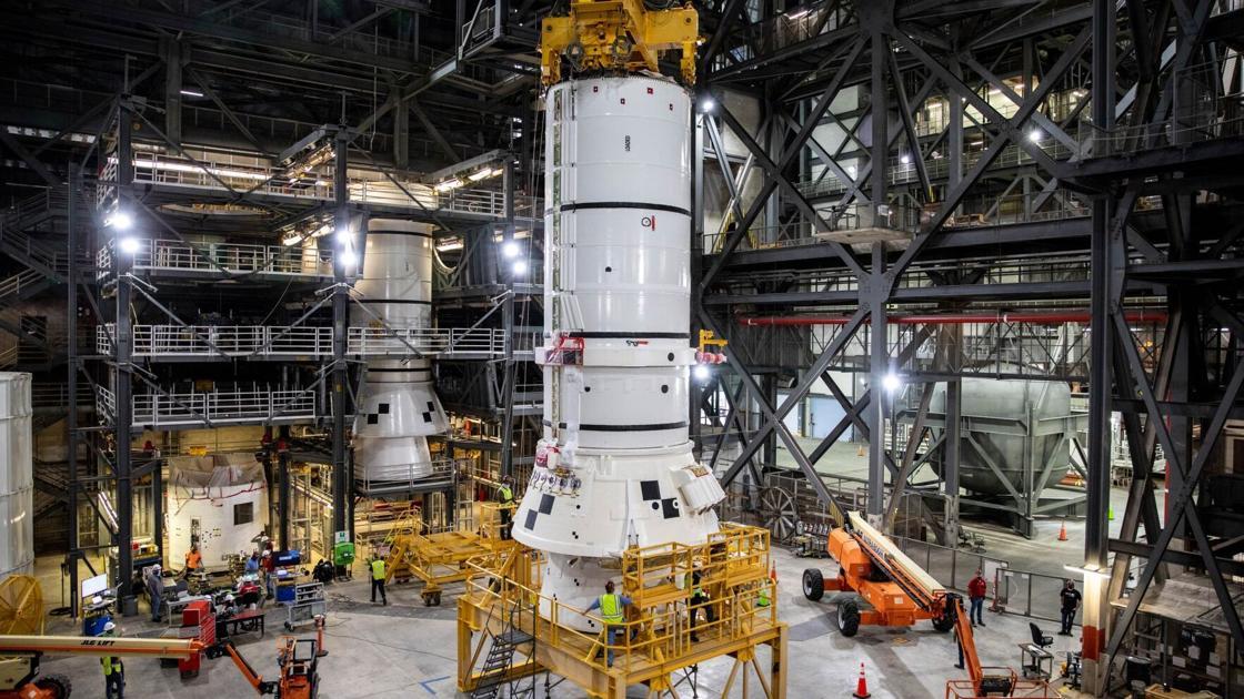 NASA begins assembling rocket for Artemis moon mission