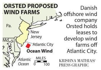 Ocean Wind wind farm map 2019