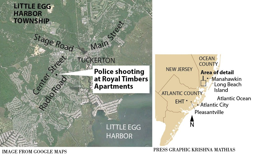 Police shooting Little Egg Harbor Township map 11-2015