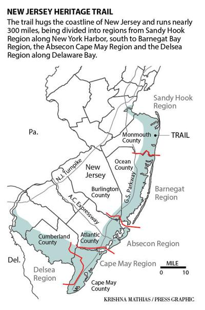 New Jersey Heritage trail map