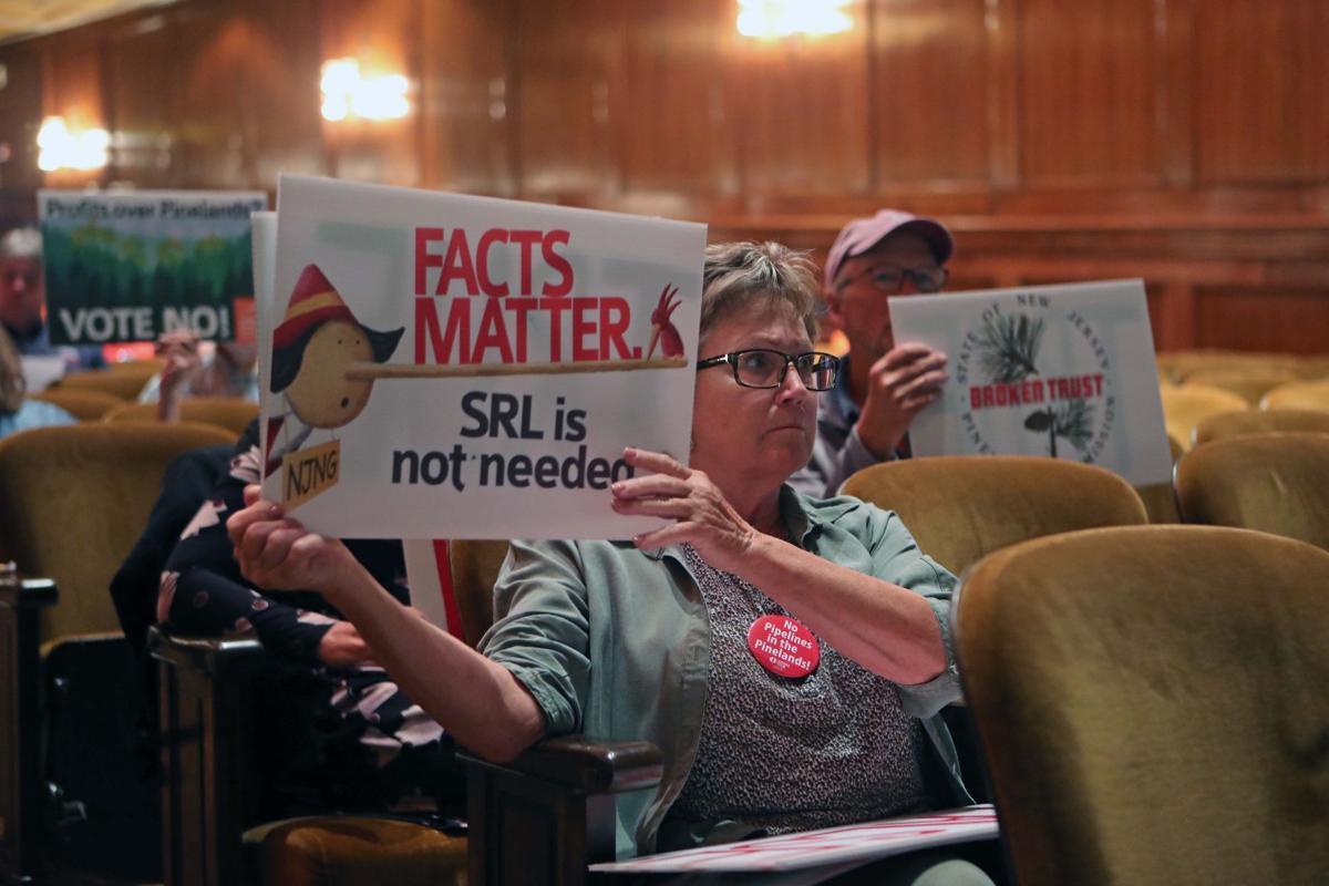 Crowd debate Wharton roads, pipeline