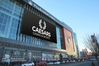 Caesars signage at Prudential Center