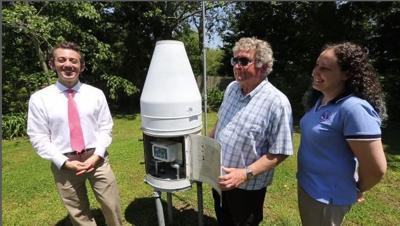 Meteorologist Joe Martucci, Wayne Roop and Valerie Meola