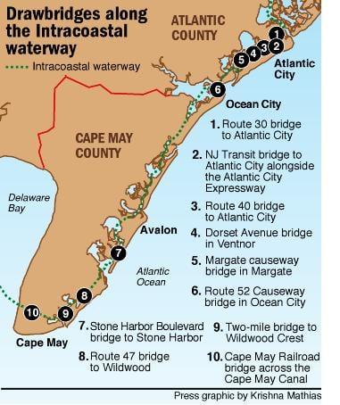 Wait for drawbridges along New Jersey's Intracoastal