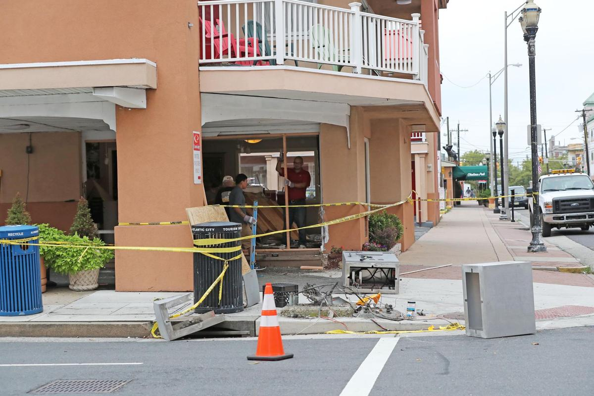 Building damaged from vehicle at Econo Lodge