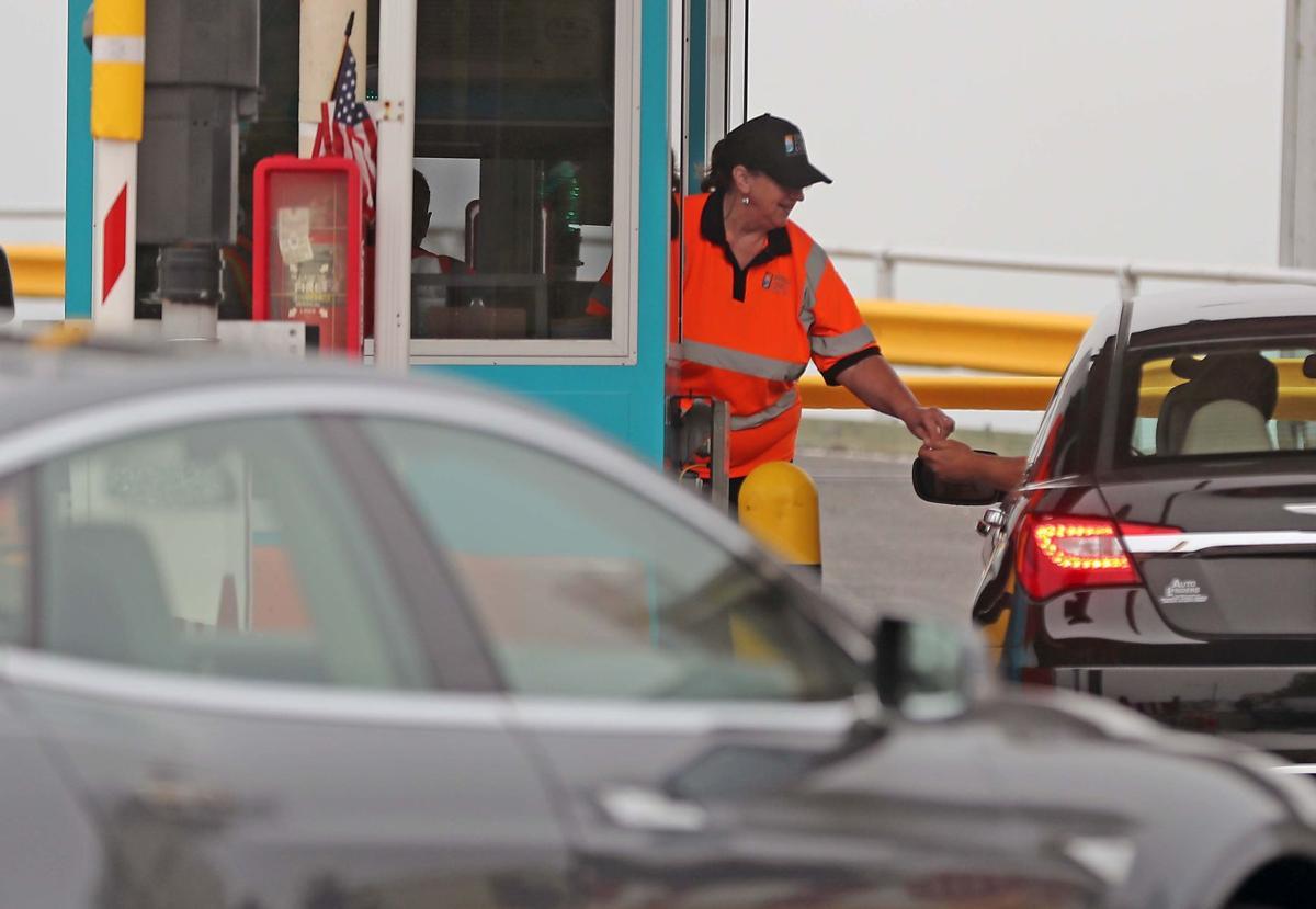 Debbie Iwashika toll booth operator