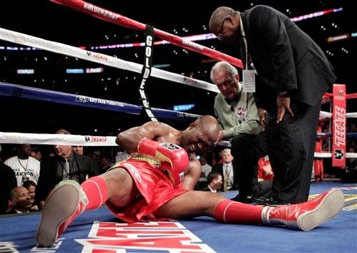 Bernard Hopkins hurt Oct. 15, 2011