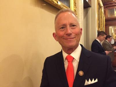 Congressman Jeff Van Drew with lapel pin