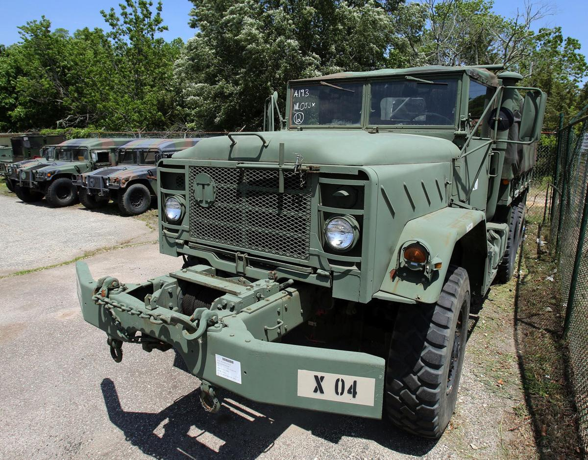 Military police buy now surplus military vehicles