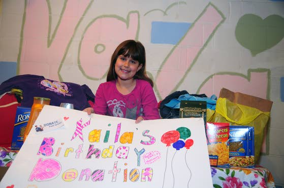All EHT girl wants for ninth birthday is food, clothes for those less fortunate