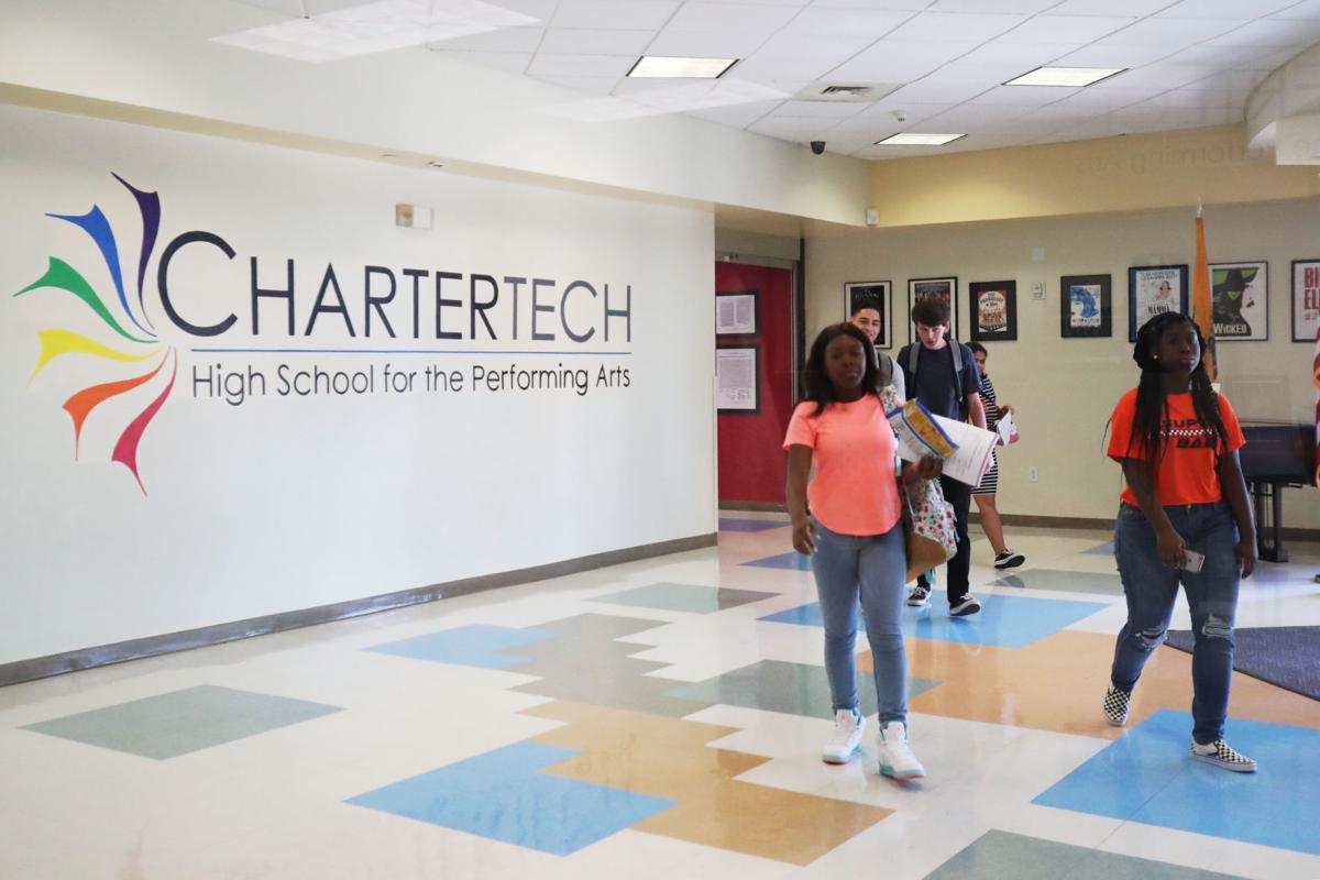 Charter Tech first day of school