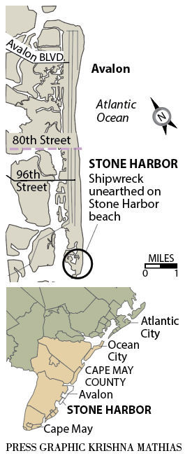 Shipwreck Stone Harbor Cape May map 12-2018
