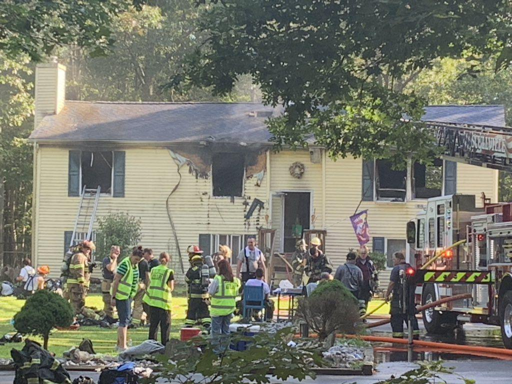 House fire on Ocean Heights Avenue in EHT displaces family
