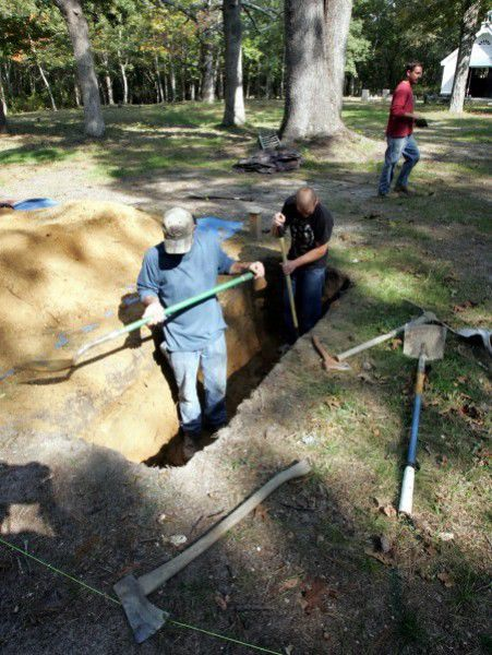 Steelmanville Cemetery works dig grave by hand