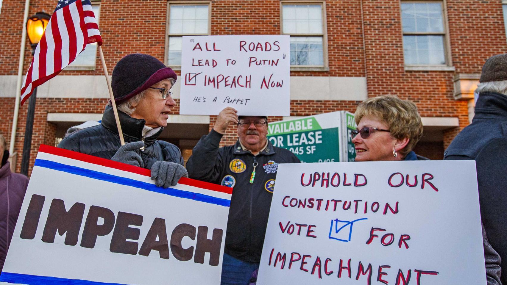 Democrats protest to persuade Van Drew to change impeachment vote ...