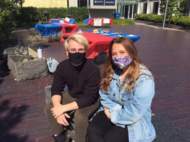 Stockton students Anthony Forte and Tori Singer