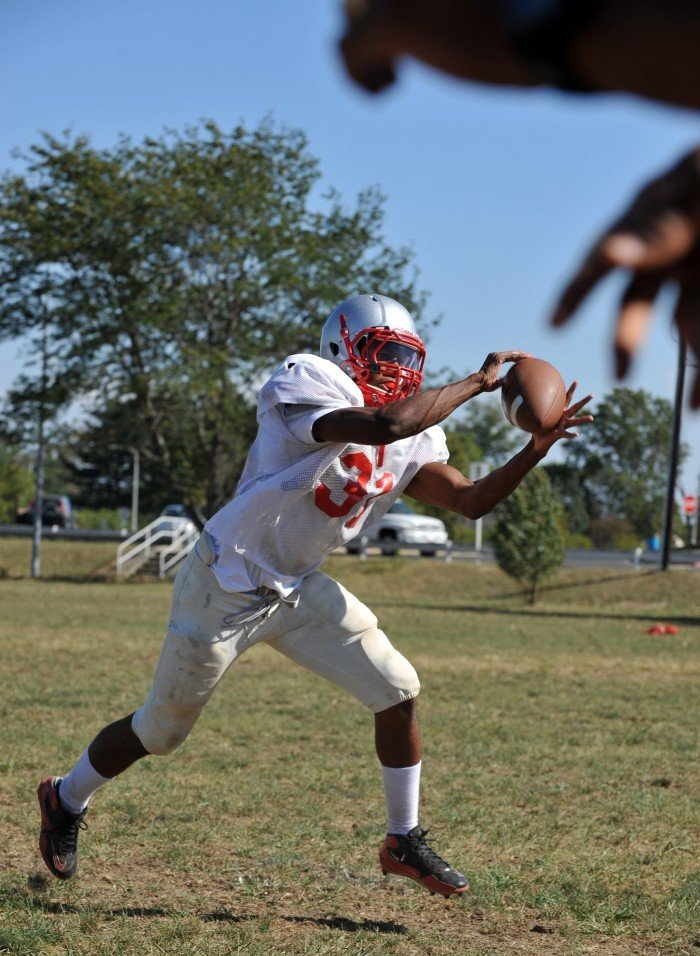 Vineland football Brian Winchester action