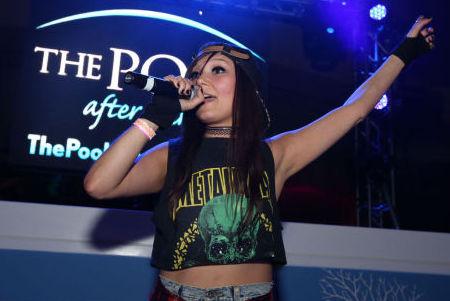 Nova Rockafeller performed at the Pool After Dark, Harrah's