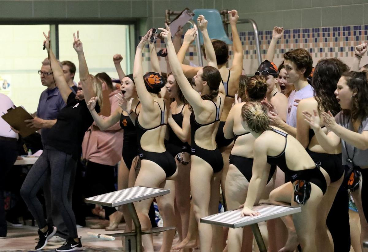 Middle Township vs Cape May Tech swimming meet South Jersey Public B Semi finals