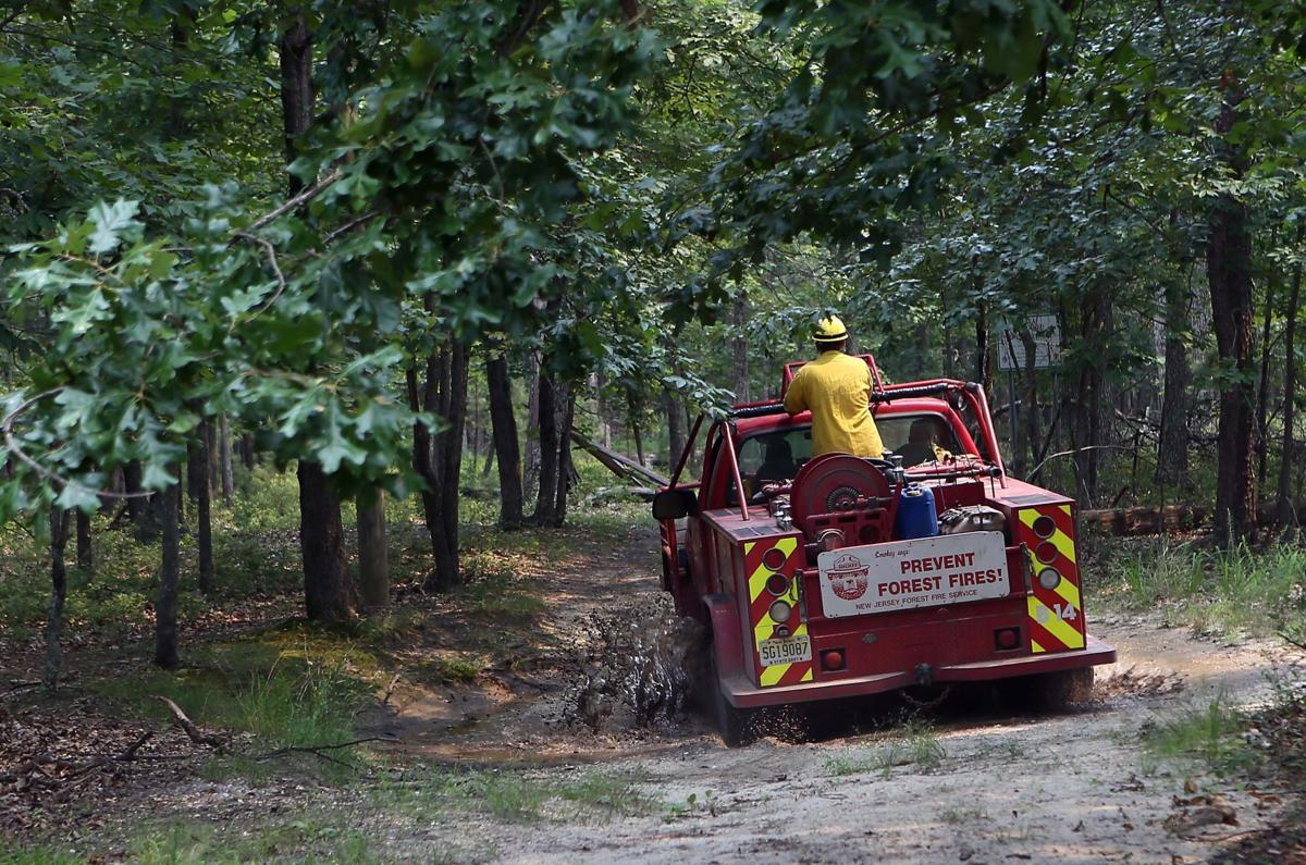 Wharton State Forest fire