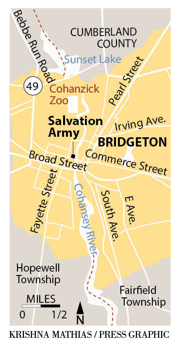 Bridgeton Salvation Army map
