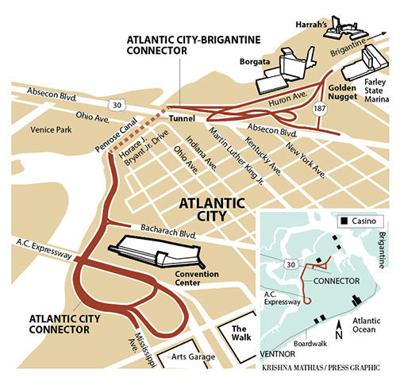 Atlantic City-Brigantine connector map
