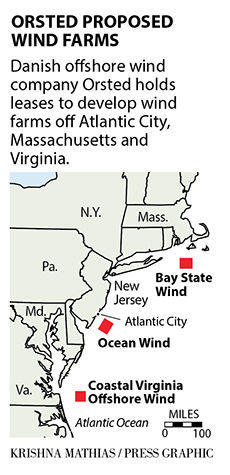 Orsted wind farm maps