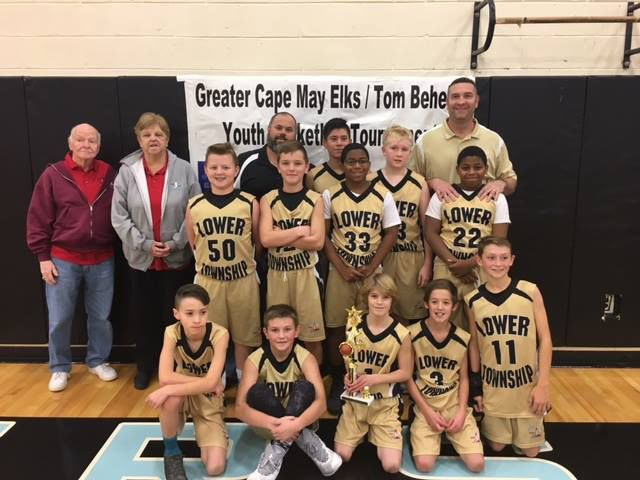 Lower Township fifth and sixth grade boys basketball