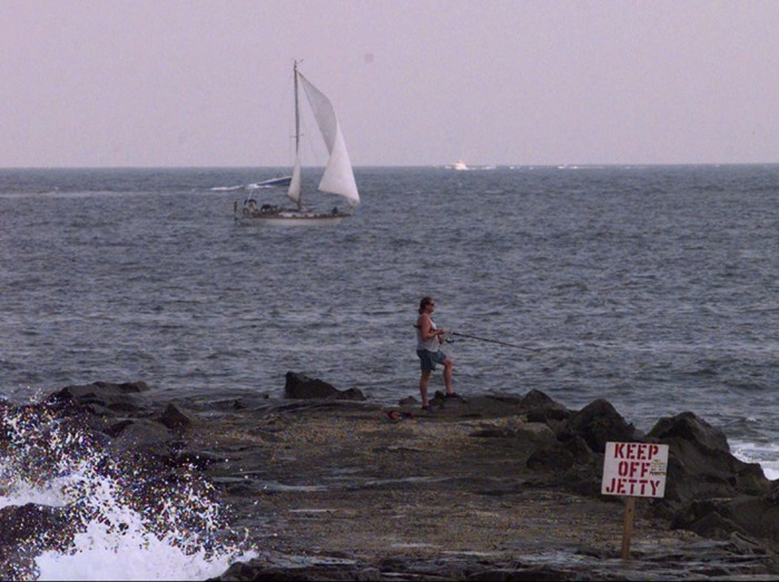 FISHING AND SAILING OFF BELMAR BEACH