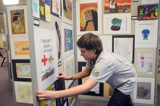 William Davies Middle School students show off creative talents at art opening