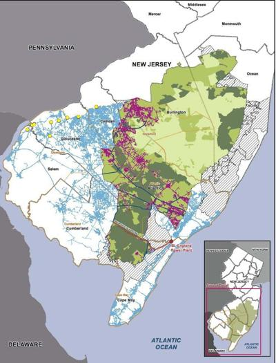 Map of South Jersey Gas Pipeline