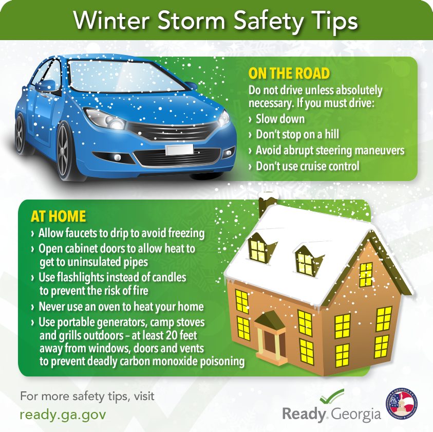 Winter storm safety tips