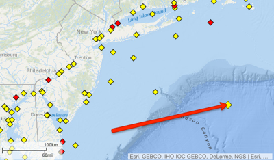 Location of buoy 44402