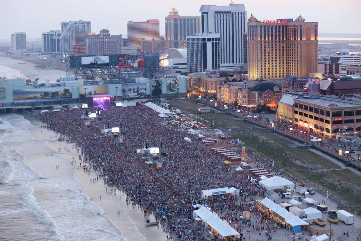 Pink Atlantic City Beach Atlantic City  July