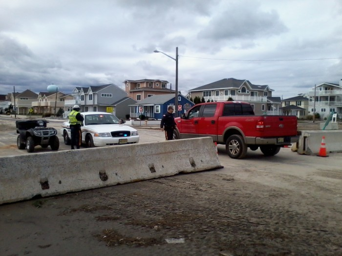 Hurricane sandy downbeach checkpoints