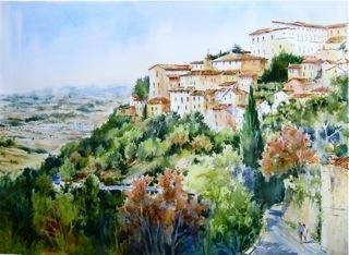 Artist's tour of Italy through watercolors featured in Hammonton