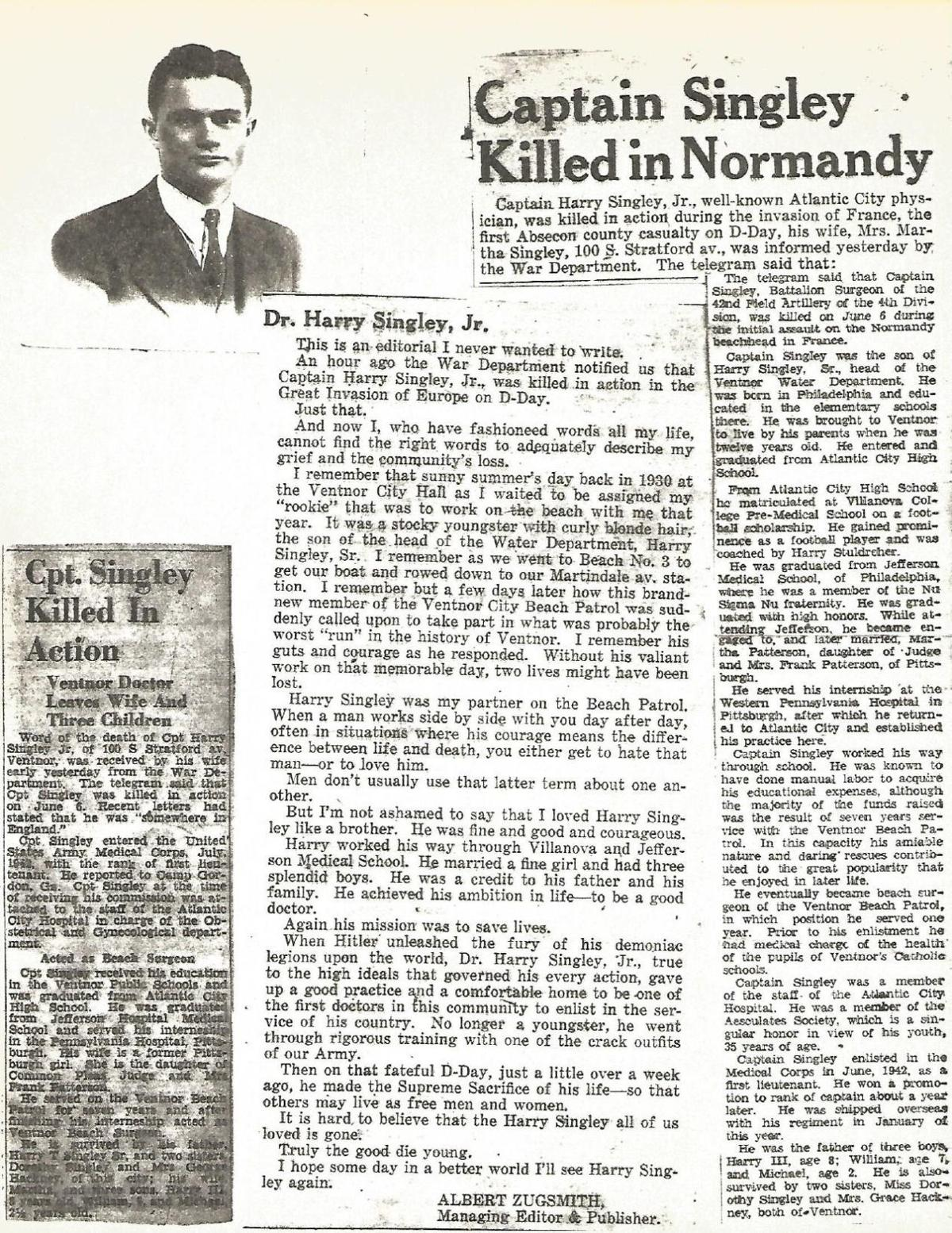 Harry Singley newspaper clips