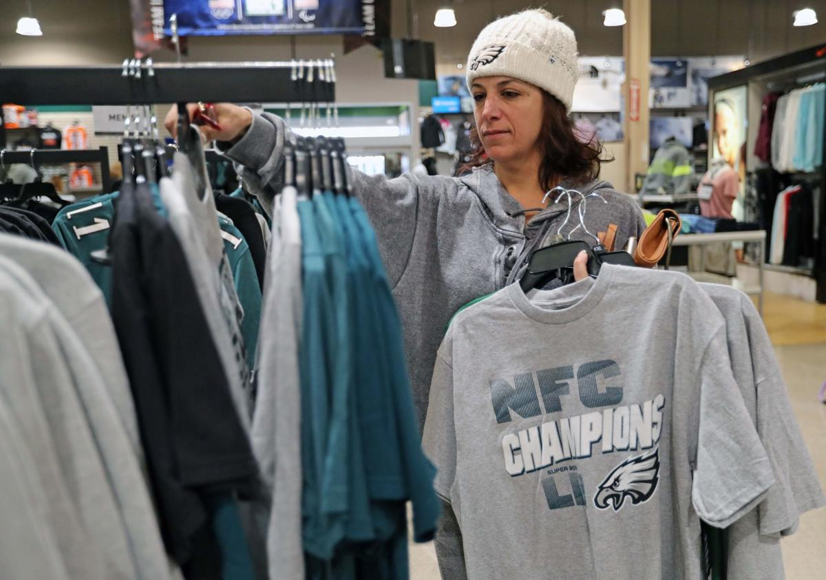 Fans buy Eagles gear at local retailers