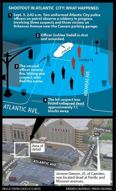 September 2016 Atlantic City police shooting map