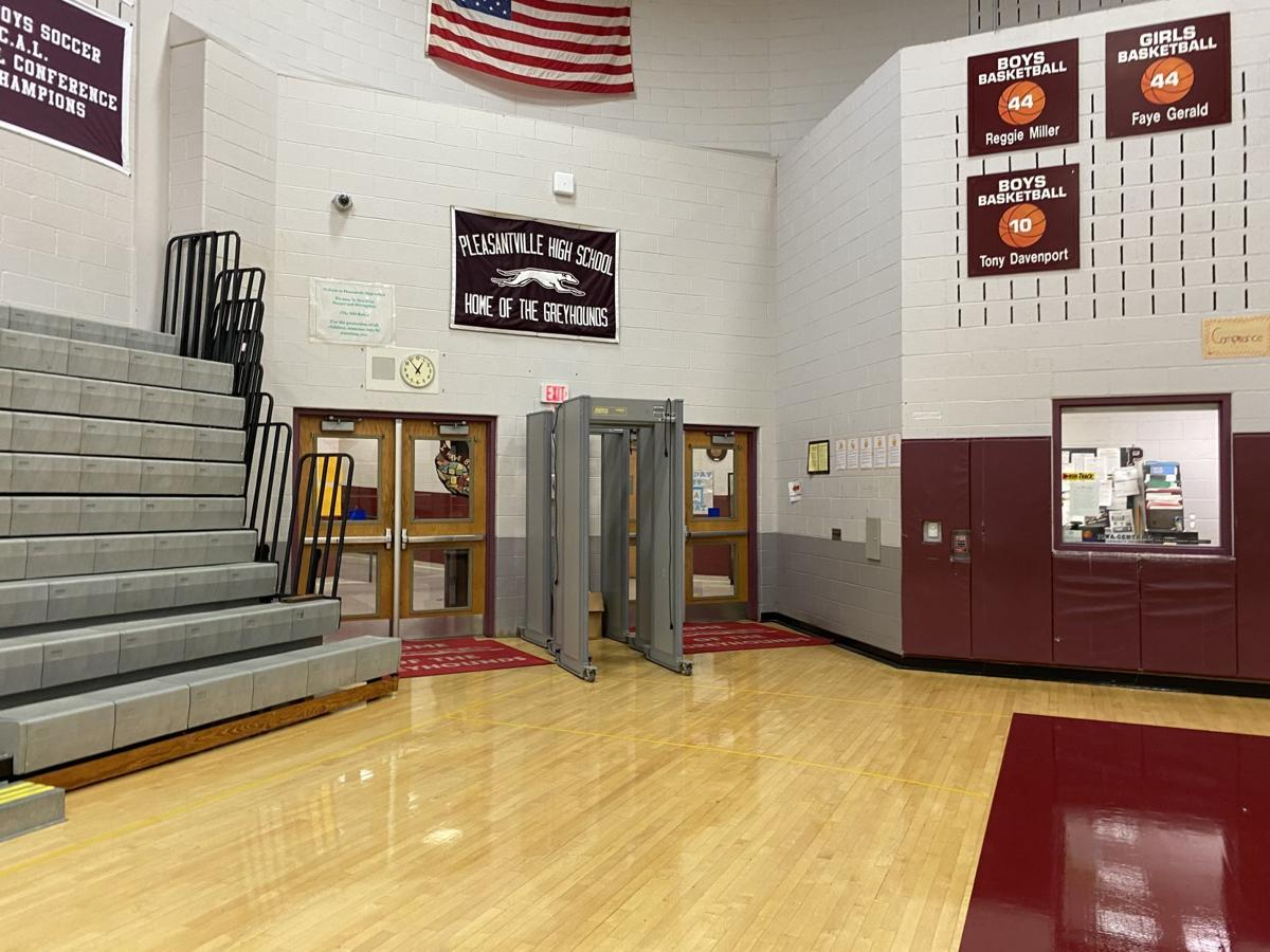 Pleasantville High School water damage April 21, 2021
