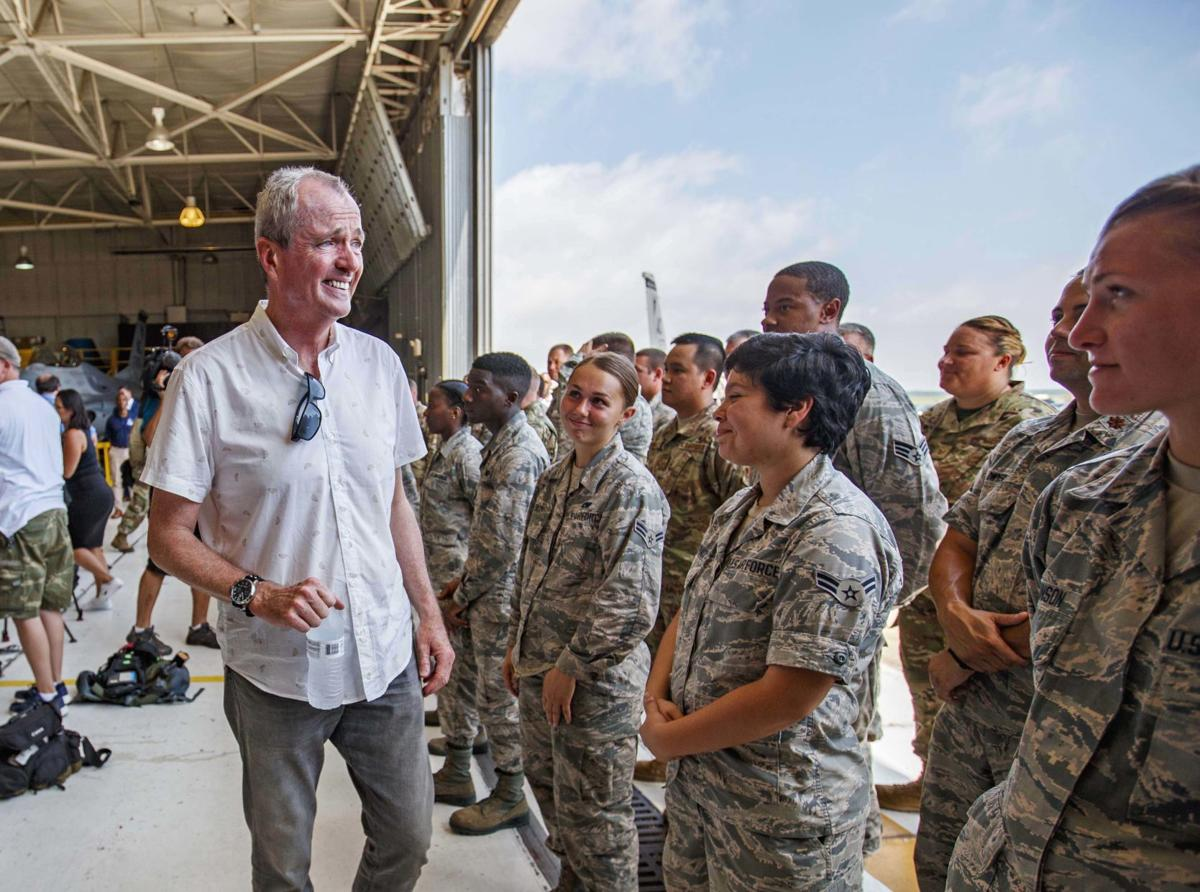 Governor Phil Murphy and U.S. Representative Donald Norcross visits military base