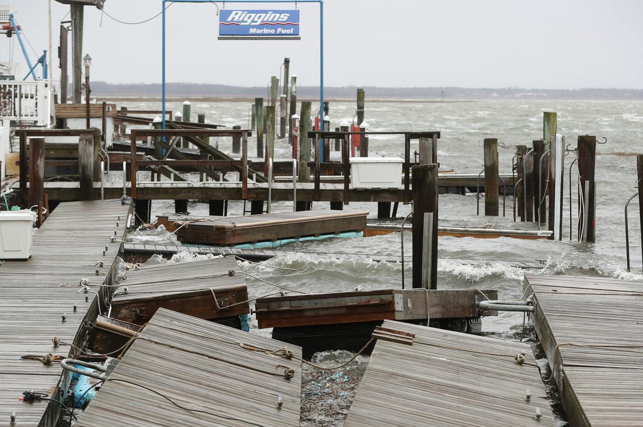 Noru0027easter hits South Jersey shore with winds