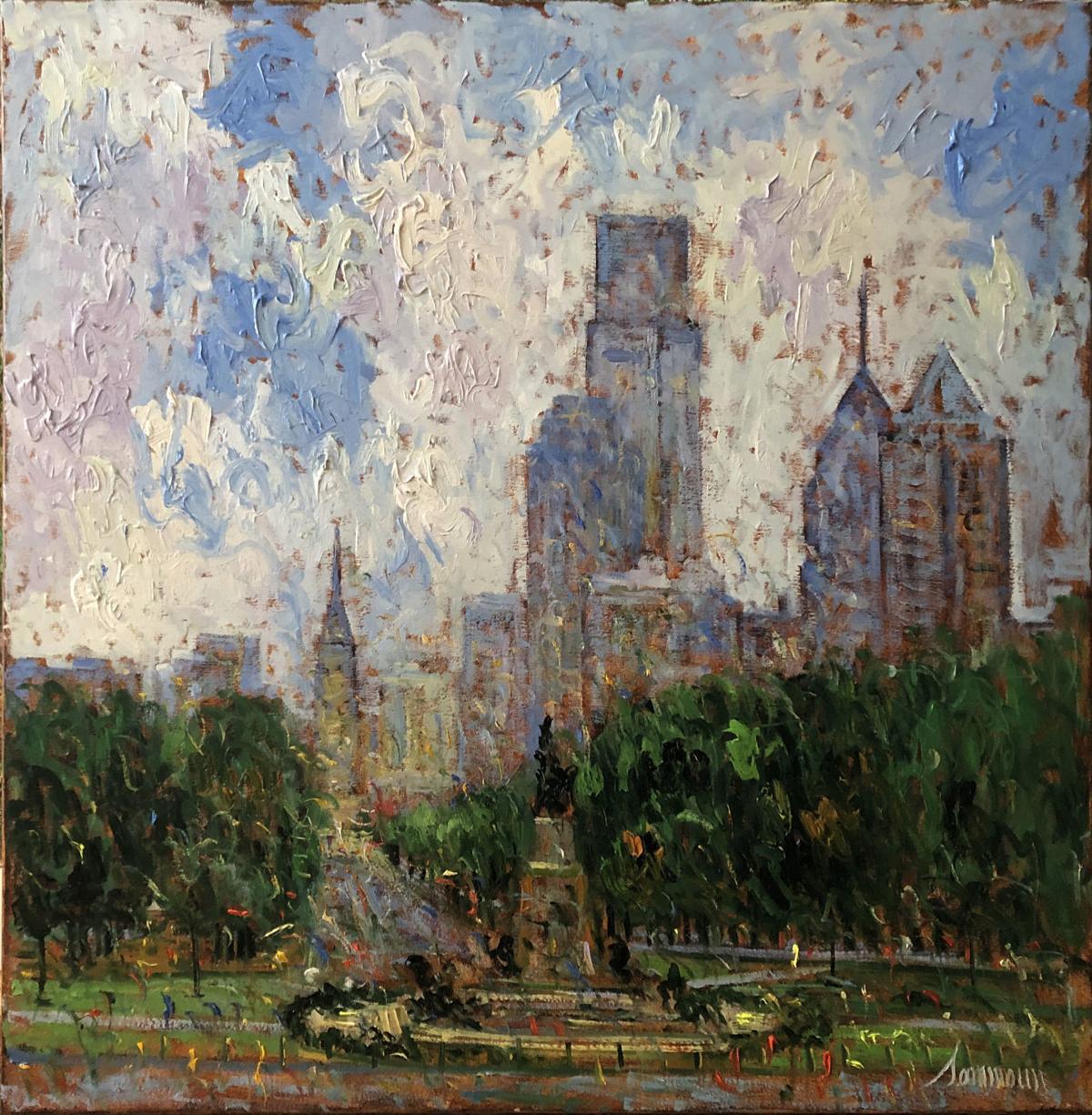 Philadelphia, View from the Museum of Fine Art, 30x30, Copyright Samir Sammoun 2019