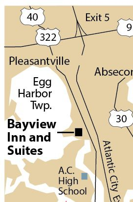 Bayview Inn West Atlantic City map
